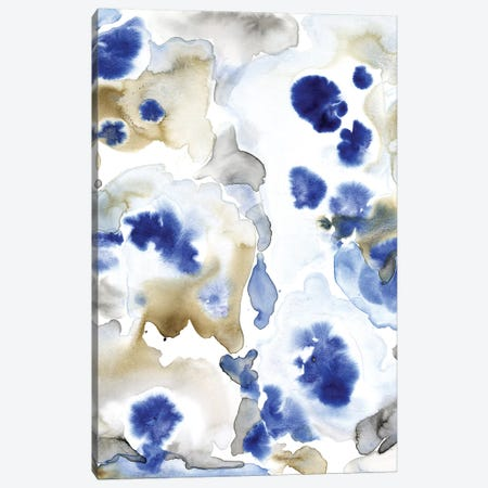 Blue Pansies II Canvas Print #TOT634} by Tim OToole Art Print