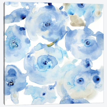 Blue Roses I 3-Piece Canvas #TOT665} by Tim OToole Canvas Art