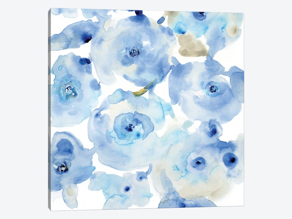 Blue Roses I by Tim OToole 1-piece Canvas Wall Art