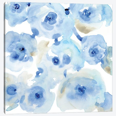 Blue Roses II Canvas Print #TOT666} by Tim OToole Canvas Wall Art