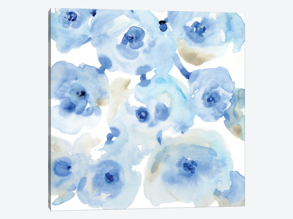 Blue Roses II by Tim OToole 1-piece Canvas Print