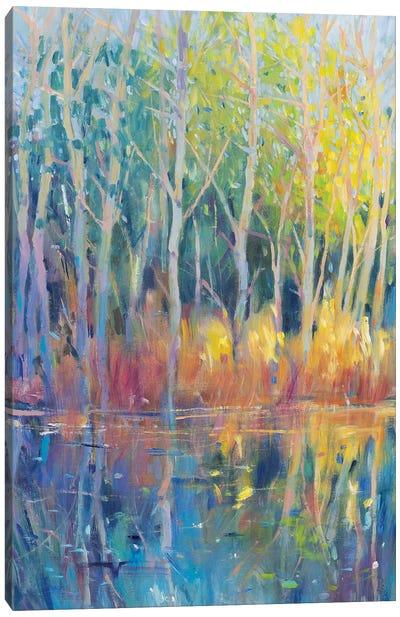 Reflected Trees II Canvas Art Print