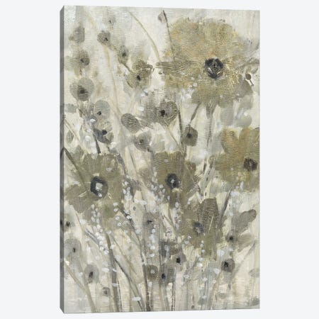 Shimmering Flowers I Canvas Print #TOT685} by Tim OToole Canvas Artwork