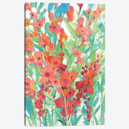 Tropical Summer Blooms I Canvas Print #TOT689} by Tim OToole Canvas Print
