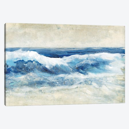 Breaking Shore Waves I Canvas Print #TOT691} by Tim OToole Canvas Wall Art
