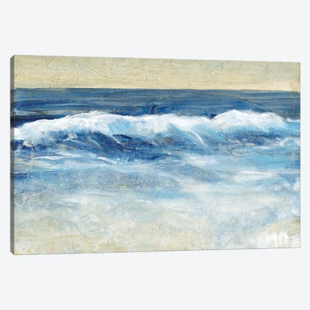 Breaking Shore Waves II 3-Piece Canvas #TOT692} by Tim OToole Canvas Artwork