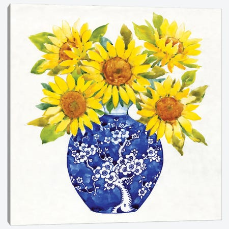 Sun Flower Still Life I Canvas Print #TOT697} by Tim OToole Canvas Art Print
