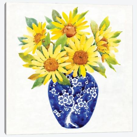Sun Flower Still Life II Canvas Print #TOT698} by Tim OToole Canvas Wall Art