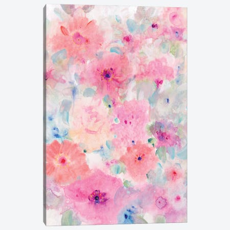 Bright Floral Design I Canvas Print #TOT730} by Tim OToole Canvas Print