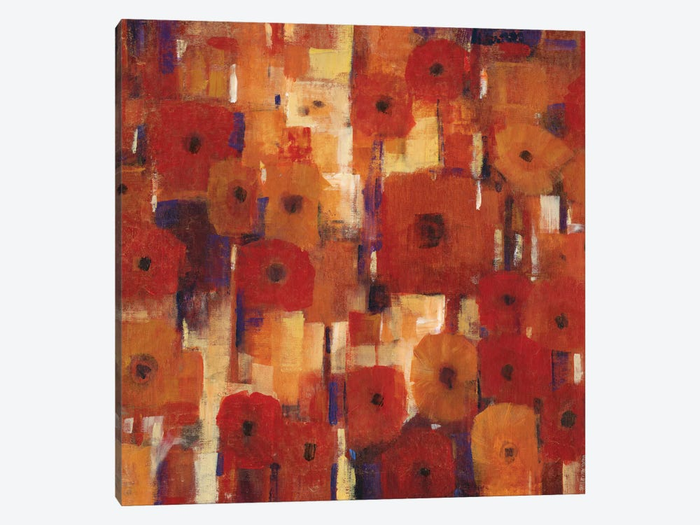 Transitional Poppies II 1-piece Canvas Art