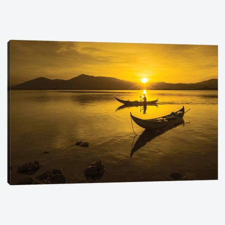 Fishing In Hon Thien Lagoon Canvas Print #TPH16} by Trung Pham Canvas Artwork