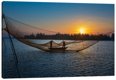Fishing Net Canvas Art Print