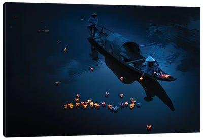 Lighting In River Canvas Art Print