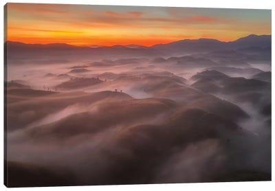 Mist In Highland Canvas Art Print