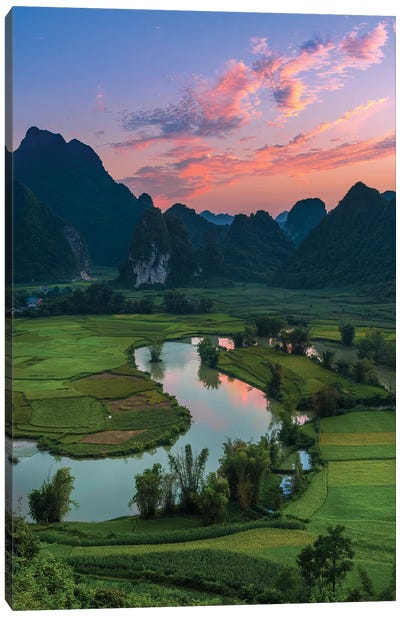 Phong Nam In Sunset Canvas Art Print