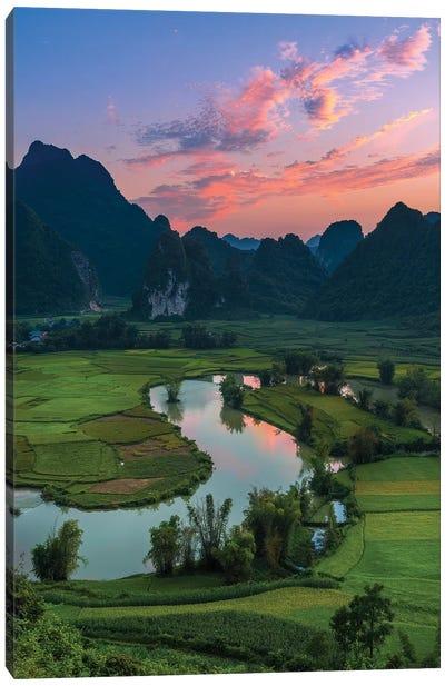 Phong Nam In Sunset Canvas Art Print