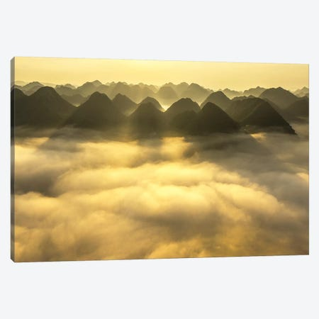 Sunrise In Bac Son Valley Canvas Print #TPH38} by Trung Pham Canvas Print