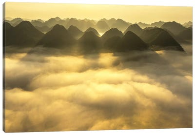 Sunrise In Bac Son Valley Canvas Art Print