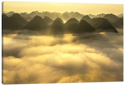 Sunrise In Bac Son Valley Canvas Art Print