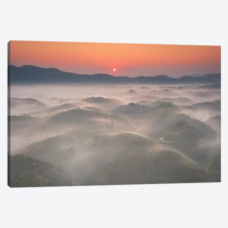 Sunrise In Highland Canvas Print #TPH39} by Trung Pham Canvas Print