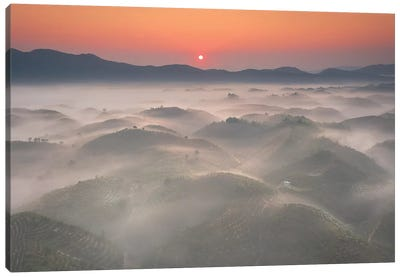 Sunrise In Highland Canvas Art Print