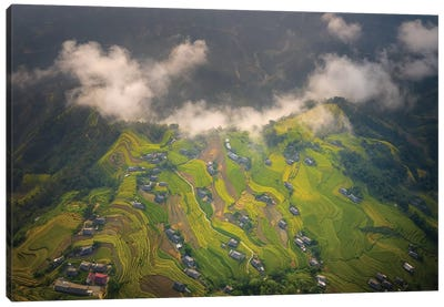 Rice Terrace In Phung Village Canvas Art Print