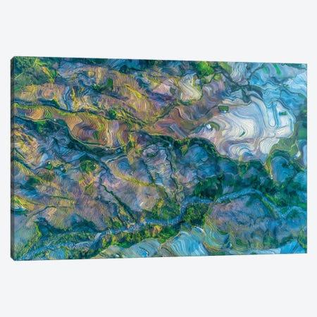 Waterfall Season In Terraces Canvas Print #TPH57} by Trung Pham Canvas Artwork
