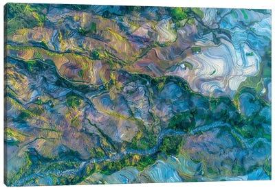 Waterfall Season In Terraces Canvas Art Print