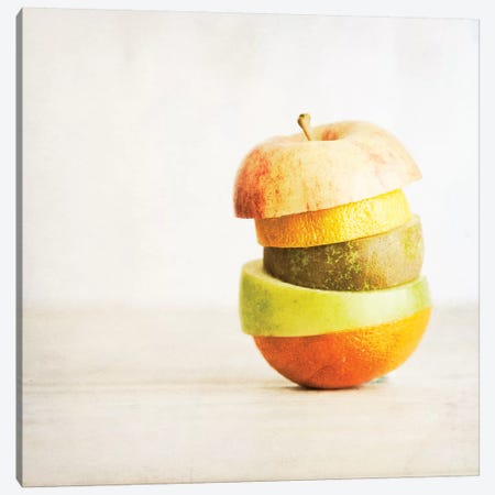 Fruit Pieces As One 3-Piece Canvas #TQU109} by Tom Quartermaine Canvas Art