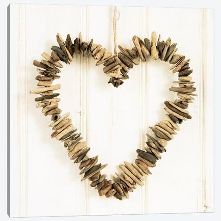 Heart Of Pieces Of Wood 3-Piece Canvas #TQU132} by Tom Quartermaine Art Print