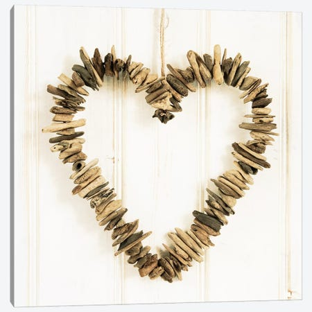 Heart Of Pieces Of Wood Canvas Print #TQU132} by Tom Quartermaine Art Print