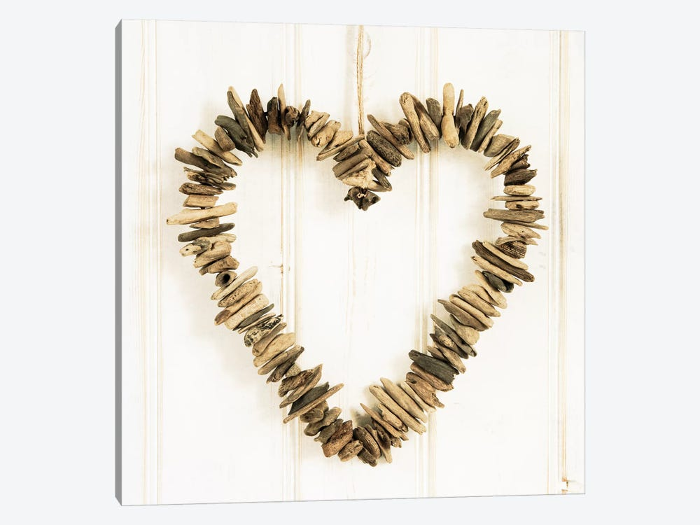 Heart Of Pieces Of Wood by Tom Quartermaine 1-piece Canvas Art