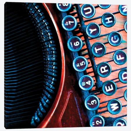 High Contrast Typewriter I Canvas Print #TQU135} by Tom Quartermaine Canvas Artwork