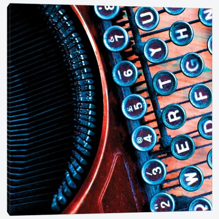High Contrast Typewriter I 3-Piece Canvas #TQU135} by Tom Quartermaine Canvas Artwork