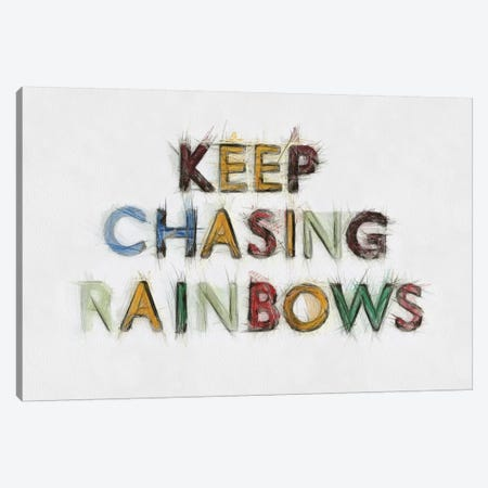 Keep Chasing Rainbows 3-Piece Canvas #TQU141} by Tom Quartermaine Canvas Artwork