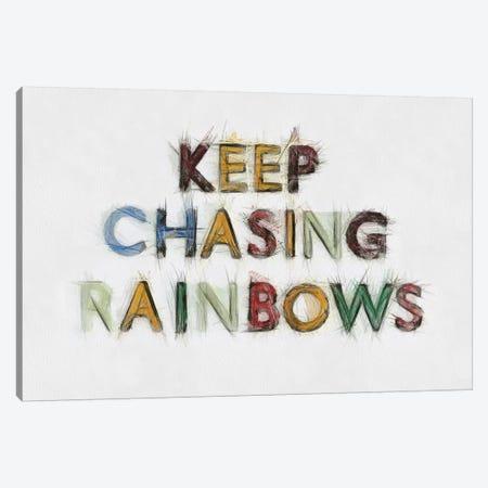 Keep Chasing Rainbows Canvas Print #TQU141} by Tom Quartermaine Canvas Artwork