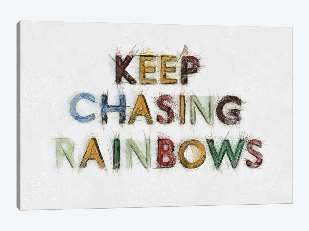 Keep Chasing Rainbows by Tom Quartermaine 1-piece Canvas Artwork