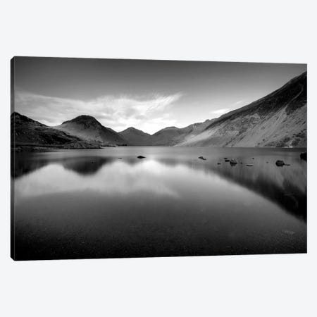 Lake And Mountains B&W 3-Piece Canvas #TQU142} by Tom Quartermaine Canvas Wall Art