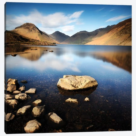 Lake And Mountains I Canvas Print #TQU143} by Tom Quartermaine Canvas Artwork