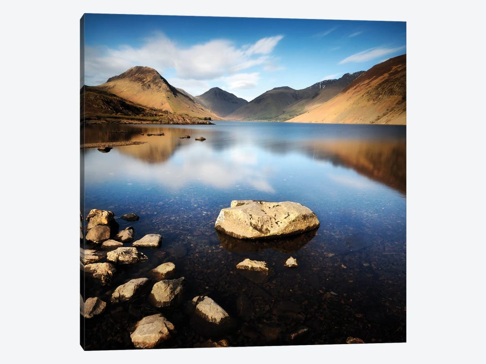 Lake And Mountains I by Tom Quartermaine 1-piece Canvas Art