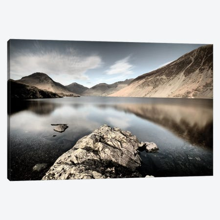 Lake And Mountains II Canvas Print #TQU144} by Tom Quartermaine Canvas Art Print