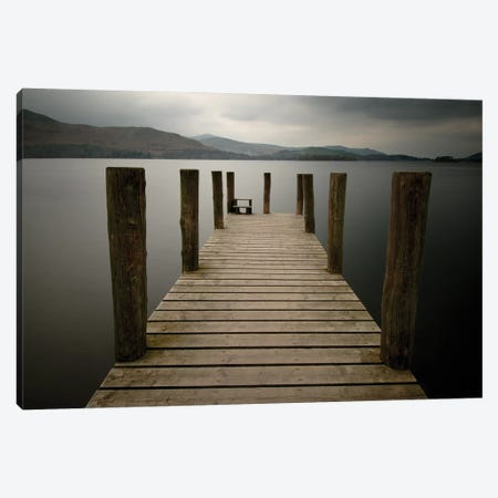 Lakeside Pier II Canvas Print #TQU146} by Tom Quartermaine Canvas Print