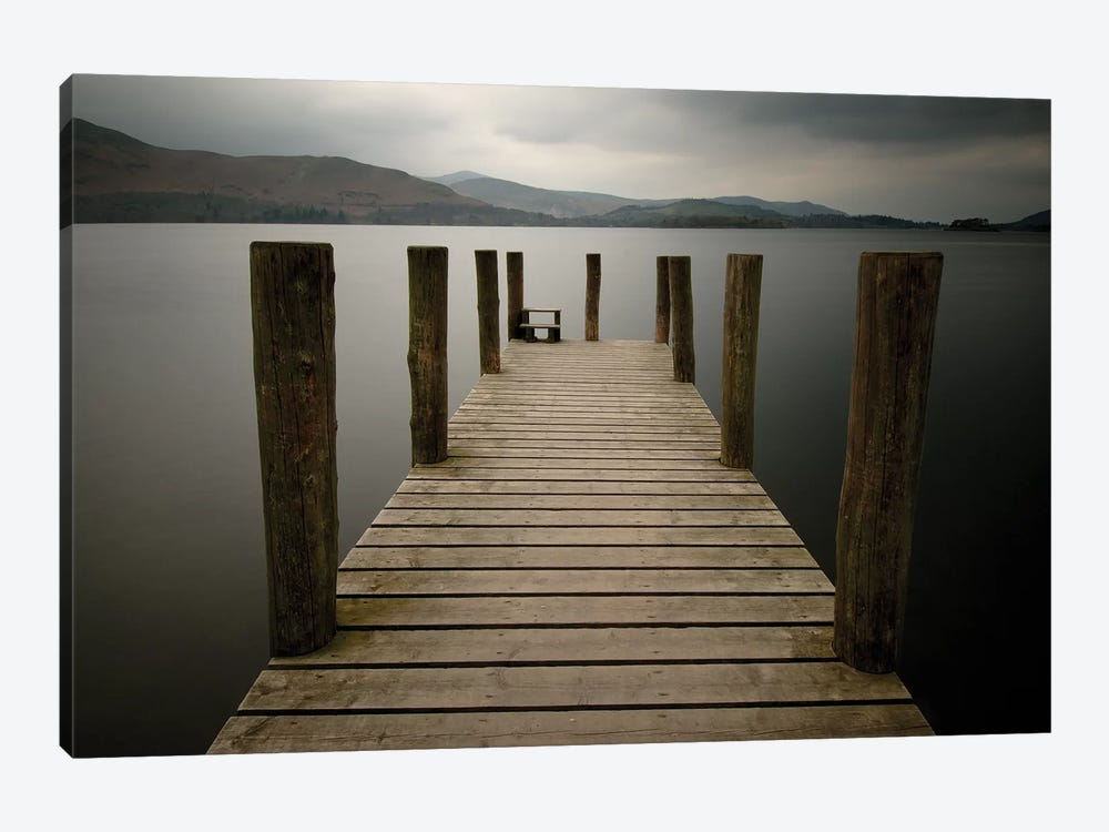 Lakeside Pier II 1-piece Canvas Print