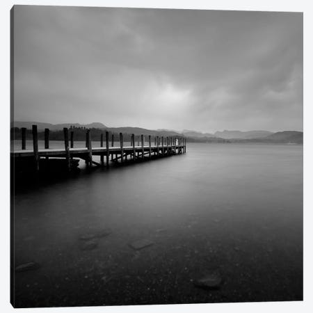 Lakeside Pier V Canvas Print #TQU147} by Tom Quartermaine Canvas Art Print