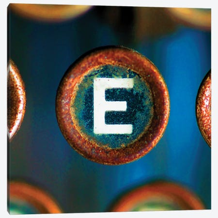 Letter E Of Typewriter 'Love' Canvas Print #TQU151} by Tom Quartermaine Canvas Art Print