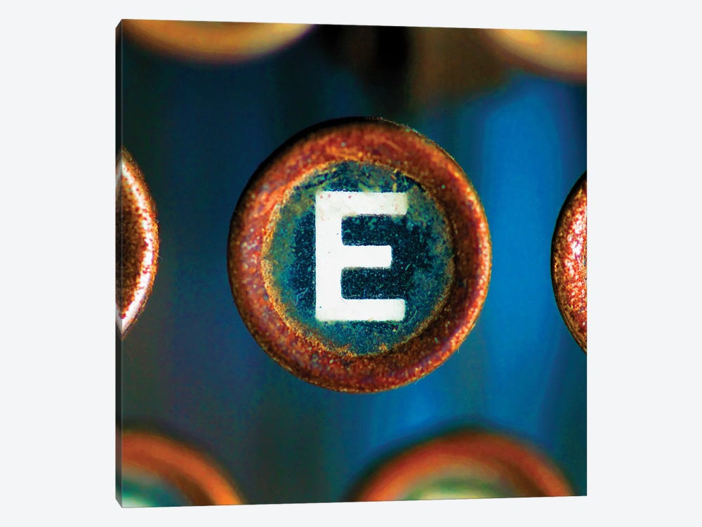 Letter E Of Typewriter 'Love' by Tom Quartermaine 1-piece Canvas Print