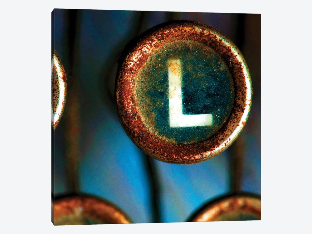 Letter L Of Typewriter 'Love' by Tom Quartermaine 1-piece Canvas Wall Art