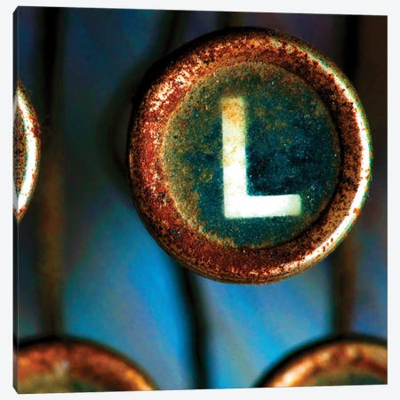 Letter L Of Typewriter 'Love' Canvas Print #TQU152} by Tom Quartermaine Canvas Art Print