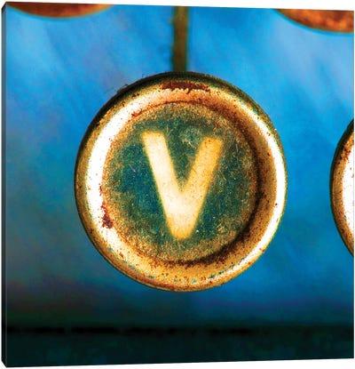 Letter V Of Typewriter 'Love' Canvas Art Print