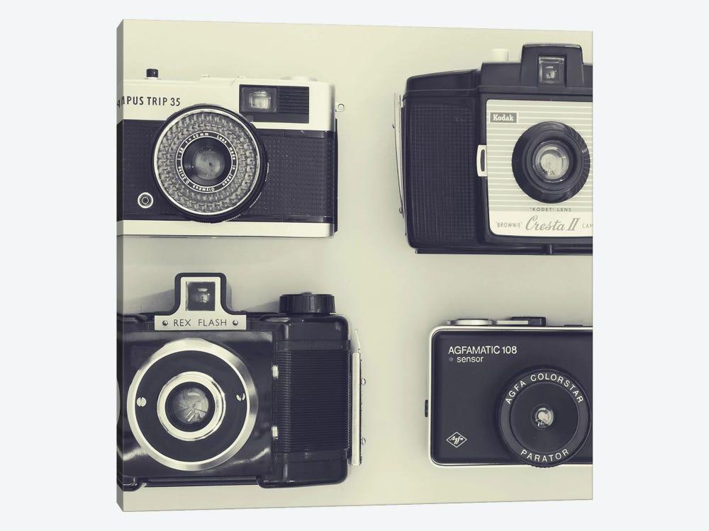 4 Vintage Cameras by Tom Quartermaine 1-piece Canvas Art Print